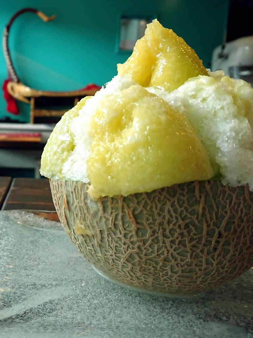 季節のフルーツ氷メロン