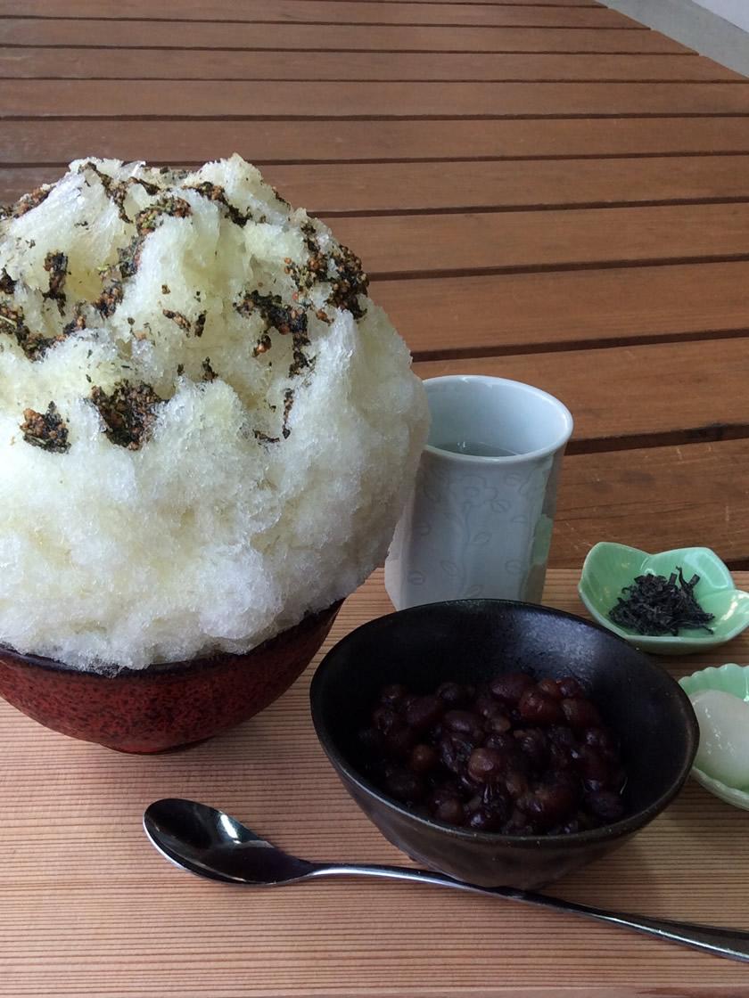 玄米茶金時氷
