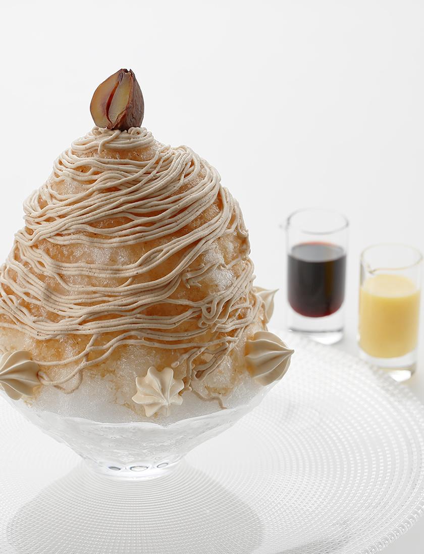 雪の菓 モンブランかき氷